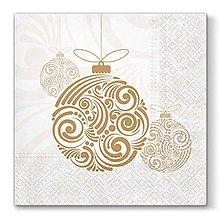 Papier - Vianočné gule - 10127428_