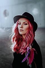 Ozdoby do vlasov - Ružová multifunkčná čelenka - 1 kus - 10127479_