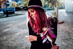 Ozdoby do vlasov - Ružová multifunkčná čelenka - 1 kus - 10127484_