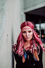 Ozdoby do vlasov - Ružová multifunkčná čelenka - 1 kus - 10127485_