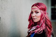 Ozdoby do vlasov - Ružová multifunkčná čelenka - 1 kus - 10127488_