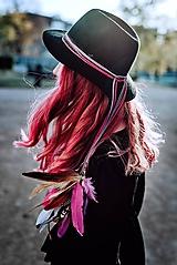 Ozdoby do vlasov - Fialová multifunkčná čelenka - 1 kus - 10127577_