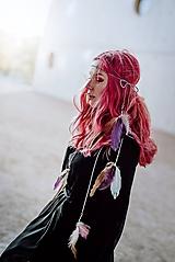 Ozdoby do vlasov - Fialová multifunkčná čelenka - 1 kus - 10127580_