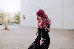 Ozdoby do vlasov - Fialová multifunkčná čelenka - 1 kus - 10127582_