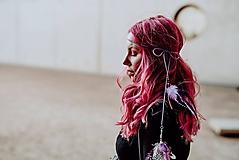 Ozdoby do vlasov - Fialová multifunkčná čelenka - 1 kus - 10127585_
