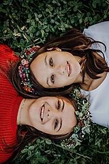 Ozdoby do vlasov - Jesenný venček s lesnými plodami - 10128027_
