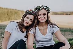 Ozdoby do vlasov - Greenery jesenný venček - 10128040_