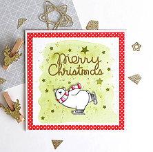 Papiernictvo - Vianočná pohľadnica - 10127293_