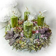 Dekorácie - Adventní věnec - Hortenziový do růžova - 10127881_