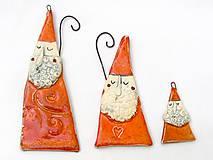 Dekorácie - Mikuláš  na zavesenie  (14-15 cm - Oranžová) - 10125739_