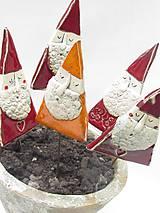 Dekorácie - Mikuláš dekorácia na zapichnutie   (Oranžová) - 10125776_