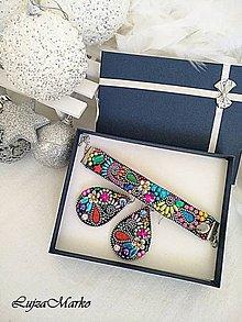 Sady šperkov - Pestrofarebná elegancia...sada v darčekovom balení. - 10127288_