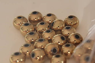 Korálky - Korálka chirurgická oceľ 8mm, 0.45€/ks - 10127104_