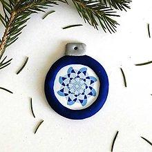 Dekorácie - FIMO vianočná ozdoba - snehová vločka/mandala 2 - 10127491_