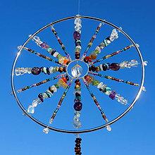 Dekorácie - Harmonizační Mandala Čakrová s Křišťálovým kyvadlem - 10129485_