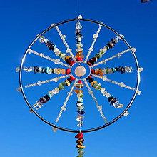 Dekorácie - Harmonizační Mandala Čakrová s Růženínovým kyvadlem - 10129493_