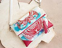 Kabelky - Malá motýlí s batikou a sítotiskem - 10129944_