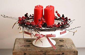 Dekorácie - Adventný svietnik - 10130977_