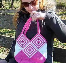 Iné tašky - Háčkovaná taška - Ruženka - 10129857_