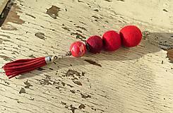 Náhrdelníky - Červená čiapočka - 10131458_