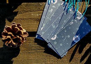 Papiernictvo - Vianočné visačky na darčeky - 10130279_