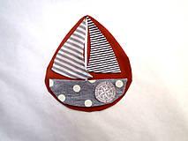 Materiál ručne robený - Nášivka lodička - 10129586_