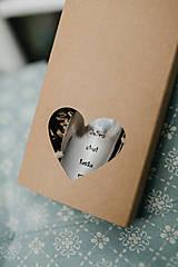 Drobnosti - Extra darčeková krabička (Srdiečková krabička na polievkové lyžice) - 10128477_