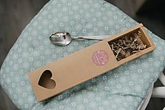 Drobnosti - Extra darčeková krabička (Srdiečková krabička na polievkové lyžice) - 10128479_