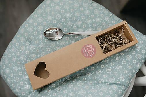 Extra darčeková krabička (Srdiečková krabička na polievkové lyžice)