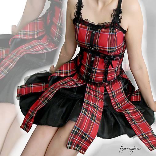 a2954773854b Červené kárované rockové šaty   true-empress - SAShE.sk - Handmade Šaty