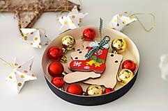 Hračky - Kreatívne sady – VIANOČNÉ OZDOBY viac druhov – na dotvorenie - 10128990_