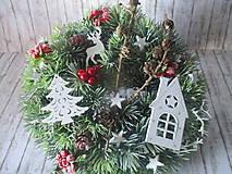 Dekorácie - Vianočný venček - 10129159_