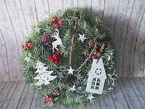 Dekorácie - Vianočný venček - 10129156_