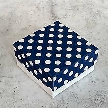 Obalový materiál - Krabička bodkovaná modrá - 10129970_