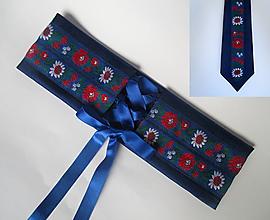 Opasky - SET: korzetový opasok + kravata - 10131958_