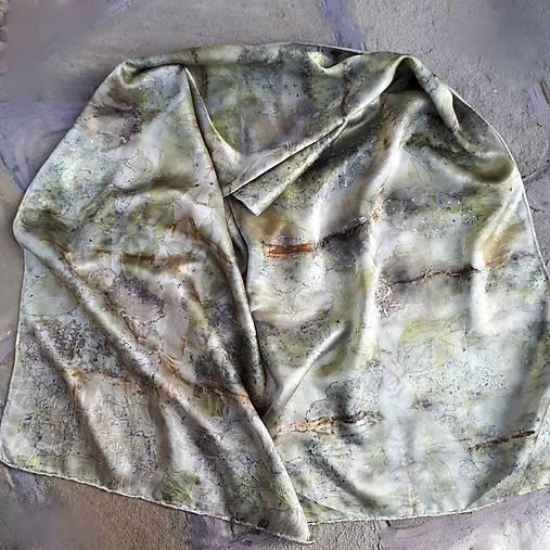 Cveng hodvábu- ekoprint šál