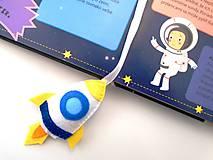 Papiernictvo - Záložka do knihy pre deti (Vesmír) - 10130868_