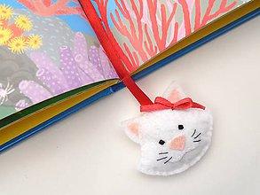 Papiernictvo - Záložka do knihy pre deti (Mačička) - 10130842_