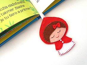 Papiernictvo - Záložka do knihy pre deti (Červená čiapočka) - 10130894_