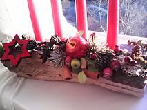 Dekorácie - Adventný svietnik ... prírodný - 10128541_