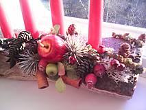 Dekorácie - Adventný svietnik ... prírodný - 10128542_