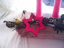 Dekorácie - Adventný svietnik ... prírodný - 10128543_