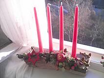 Dekorácie - Adventný svietnik ... prírodný - 10128544_