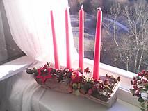 Dekorácie - Adventný svietnik ... prírodný - 10128545_