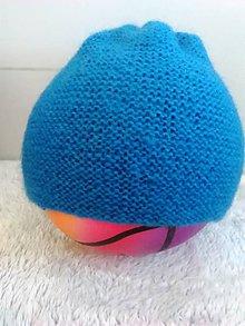 Detské čiapky - Čiapka ,modrá..... - 10128350_
