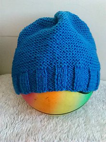 Čiapky - Modrá čiapka :-) - 10128387_