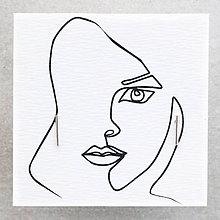 Náušnice - Strieborné náušnice - čiarky - 10131159_