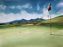Obraz Na golfe s Tatrami v pozadí