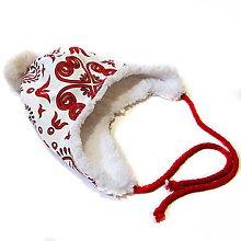 Detské čiapky - Ušianka - Red Folk - 10130931_