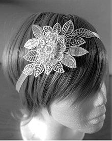 Ozdoby do vlasov - Svadobná čelenka s ornamentom - 10129410_
